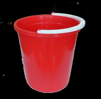 Ведро 7 л круглое пищевое красное