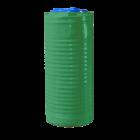 Емкость 200 л узкая вертикальная зеленая