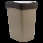 Ведро для мусора Евро 45 л (кремовый - темно-коричневый)