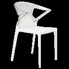 Кресло Papatya Ego-K белое сиденье, верх прозрачно-чистый