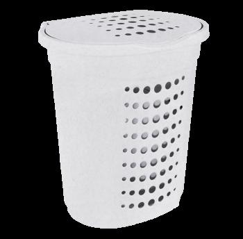 Корзина для белья 60л белый флок