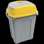Бак для мусора Planet Hippo 50 л серо-желтый