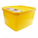 Бокс для морозильной камеры 1,2 л глубокий Alaska желтый