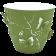 Горшок для цветов 3D 0,7 л тёмно-зелёный