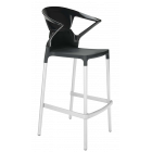Барное кресло Papatya Ego-K черное сиденье, верх черный
