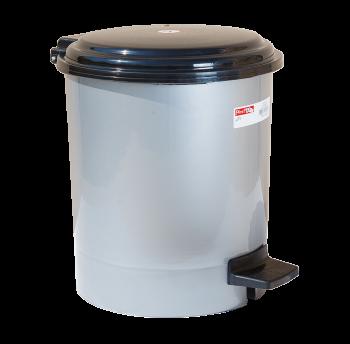 Ведро для мусора с педалью Irak Plastik №3 19,5л серый металлик