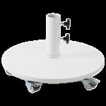База для парасолі Papatya 38 кг з колесами біла