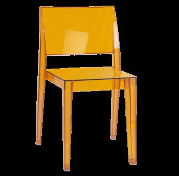 Стілець Papatya Gyza прозоро-помаранчевий