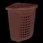Корзина для белья (угловая) пластиковая 45 л коричневая