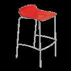 Барний стілець Papatya X-Treme BSS прозоро-червоний