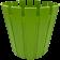 Горшок для цветов Akasya 9 л зеленый