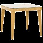 Стол Tilia Osaka 90x90 см столешница из стекла, ножки пластиковые цвет дерево