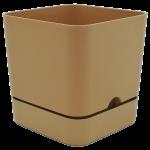 Горщик для квітів квадратний Begonya 2,3 л коричневий