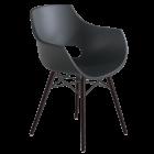 Кресло Papatya Opal-Wox матовый антрацит, рама лакированный бук венге