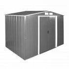 Сарай металлический ECO 262x182x191 см серый с белым