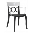Кресло Papatya Opera-K сиденье черное, верх белый