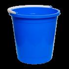 Ведро 7 л круглое пищевое синее