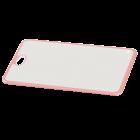 Доска разделочная Irak Plastik Прямая бело-розовая