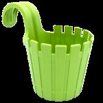 Горшок для цветов балконный подвесной Akasya Single 1,5 л зеленый