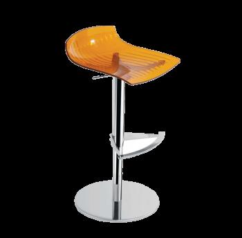 Стул барный Papatya X-Treme B прозрачно-оранжевый