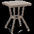 Стіл Tilia Kobe 60x60 см стільниця зі скла кавовий - бежевий - кавовий