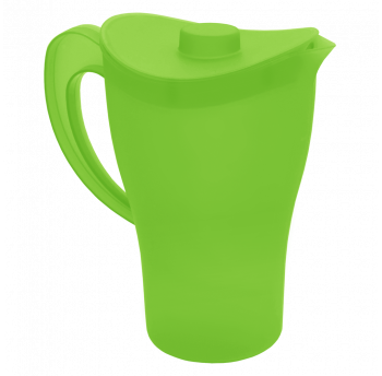 Кувшин с крышкой 2 литра зеленый