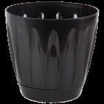 Горщик для квітів Daisy 0,7 л чорний