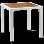 Стол Tilia Antares 80x80 см столешница ироко, ножки пластиковые белая слоновая кость