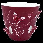 Горщик для квітів 3D 1,4 л темно-червоний