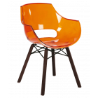 Кресло Papatya Opal Wox Iroko прозрачно-оранжевое
