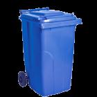 Бак для сміття на колісах з ручкою 240 л синій
