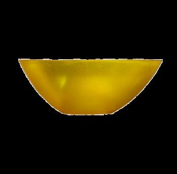 Салатница Кристалл пластиковая 1л прозрачно-желтая