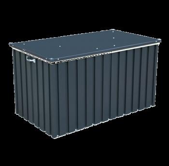 Ящик металлический внешний серый с белым