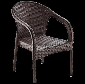Кресло Irak Plastik Ege под ротанг темно-коричневый