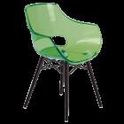 Кресло Papatya Opal-Wox прозрачно-зеленое, рама лакированный бук венге