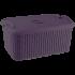 Корзина с крышкой Flexi 10 л тёмно-фиолетовая