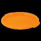Поднос круглый пластиковый 38,9х2,5 см оранжевый