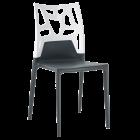 Стілець Papatya Ego-Rock антрацит сидіння, верх білий