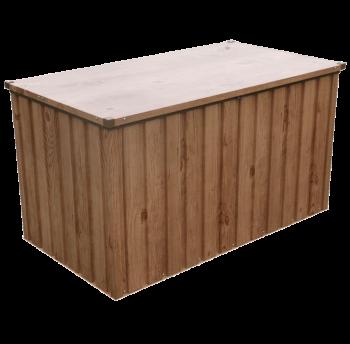 Ящик металлический внешний под дерево с коричневым