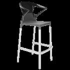 Барное кресло Papatya Ego-K антрацит сиденье, верх черный