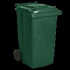 Бак для сміття на колісах з ручкою 240 л зелений