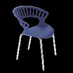 Кресло Papatya Tiara пурпурный, база хром