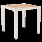Стол Tilia Antares 80x80 см столешница ироко, ножки пластиковые кремовый