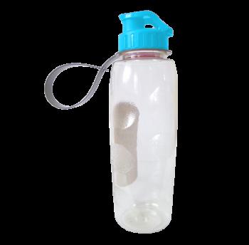 Бутылочка для воды 0,7 л прозрачно-голубая