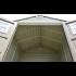Сарай пластиковый Storemaxx 203x203x234 см слоновая кость, коричневая крыша