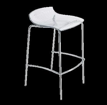 Барный стул Papatya X-Treme BSS прозрачно-чистый