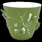 Горшок для цветов 3D 1,4 л тёмно-зелёный