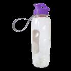 Бутылочка для воды 0,7 л прозрачно-фиолетовая