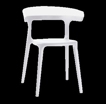 Кресло Papatya Luna белое сиденье, верх белый
