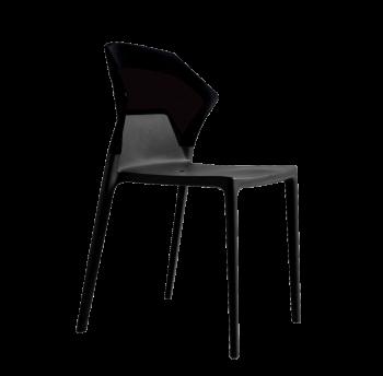 Стул Papatya Ego-S черное сиденье, верх чёрный